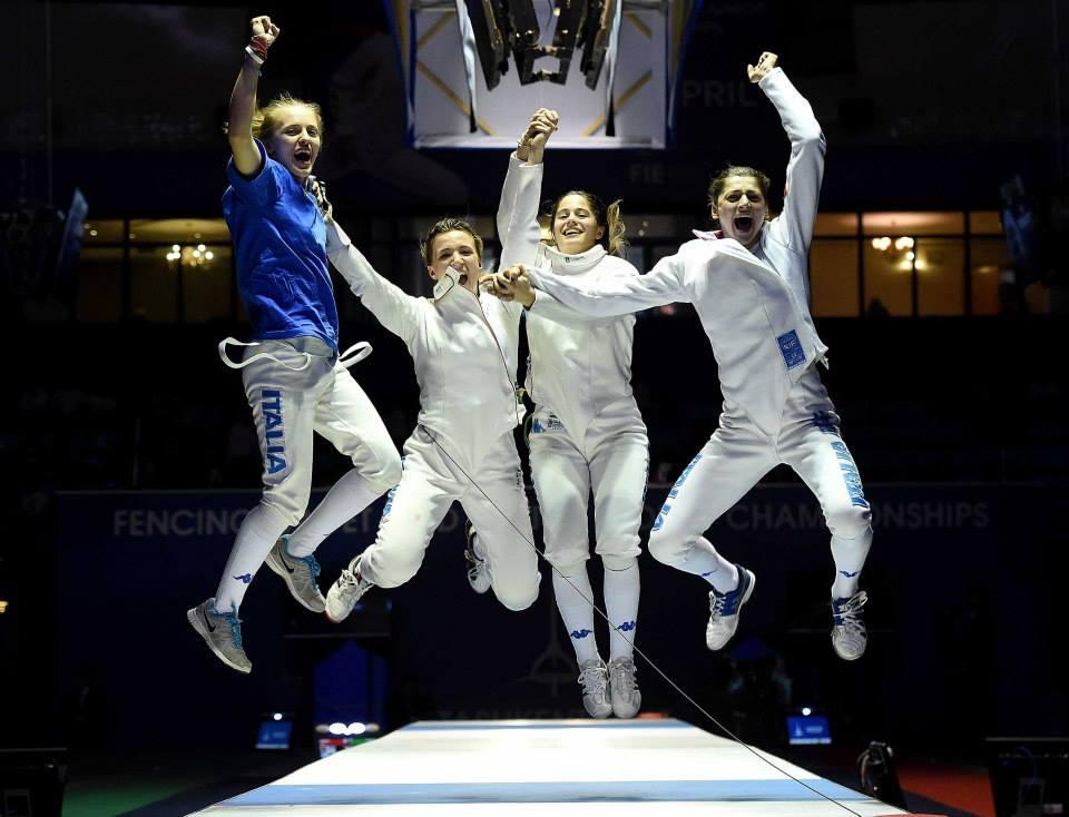 Altra gara altro oro. Questa volta la firma è delle spadiste Alice Clerici, Eleonora De Marchi, Nicole Foietta e Roberta Marzani. Quest'ultima è anche vincitrice della classifica di Coppa del Mondo per il secondo anno di fila.